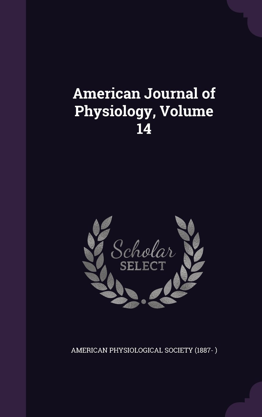 Download American Journal of Physiology, Volume 14 pdf epub