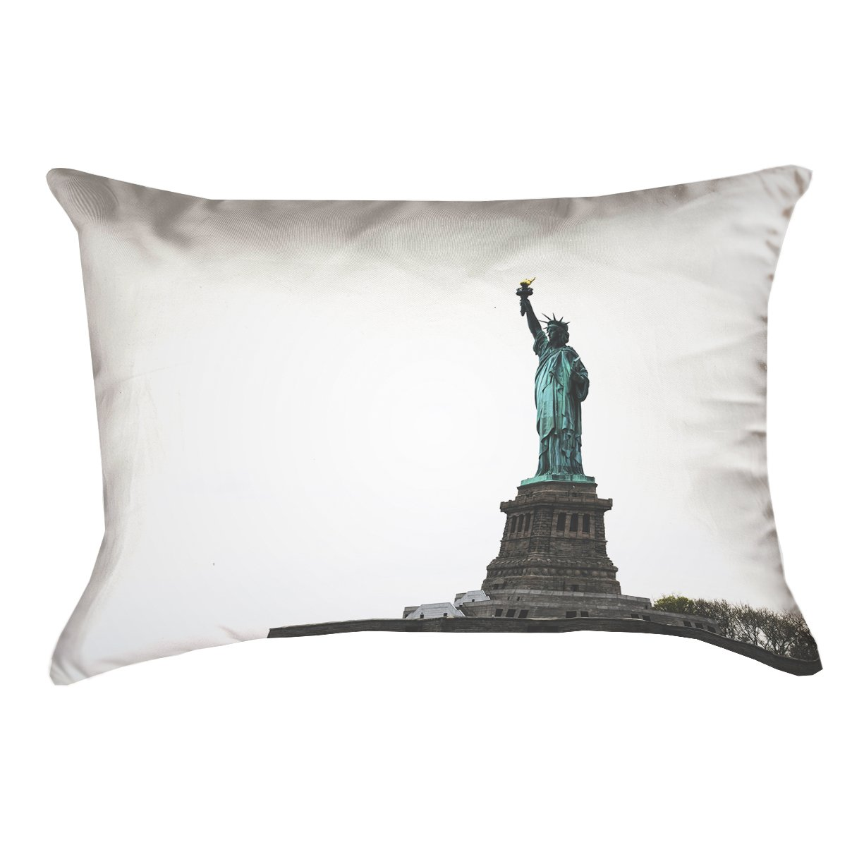 ArtVerse James Pond Statue of Liberty x 20 Pillow-Poly Twill Double Sided Print with Concealed Zipper /& Insert