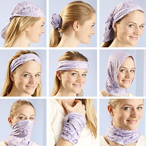 Multifunctional 16-in-1 Yoga Sports Fashion Travel Colors Headband Seamless Neck Uv Solid Moisture Wicking Bandana Turban Scarf (15pink diamond)