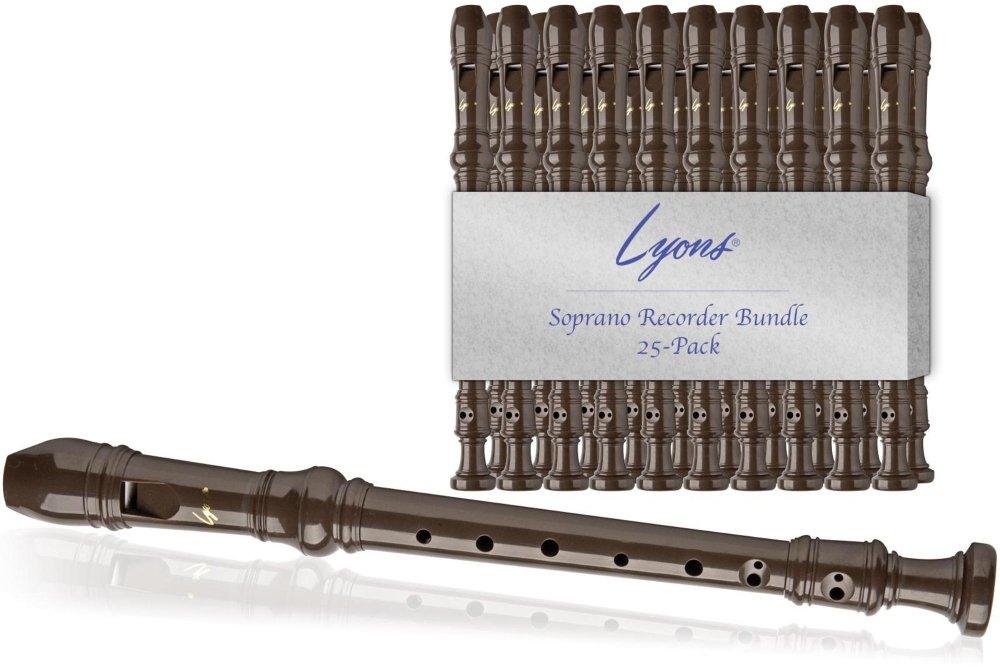 Lyons Soprano Recorder Value Bundle 25-Pack Brown