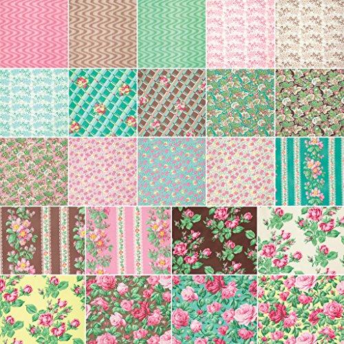 Verna Mosquera SNAPSHOT Fat Quarter Bundle 30 Precut Cotton Fabric Quilting FQs Assortment Roses Free Spirit