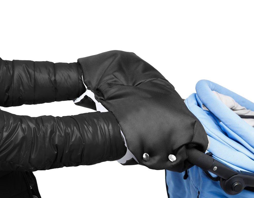 Handwärmer, MTURE Handschuhe Handmuff Muff mit Fleece Innenseite, wasser- und windabweisend, atmungsaktiv Fingerwärmer, Universalgröße für Kinderwagen, Buggy, Radanhänger - Schwarz Handwärmer Radanhänger - Schwarz 1124BNST01
