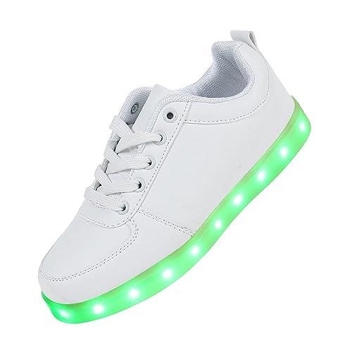 [Presente:pequeña toalla]Blanco 43 7 JUNGLEST Unisex Zapatos manera Mujeres LED Hombre khXtK52eO