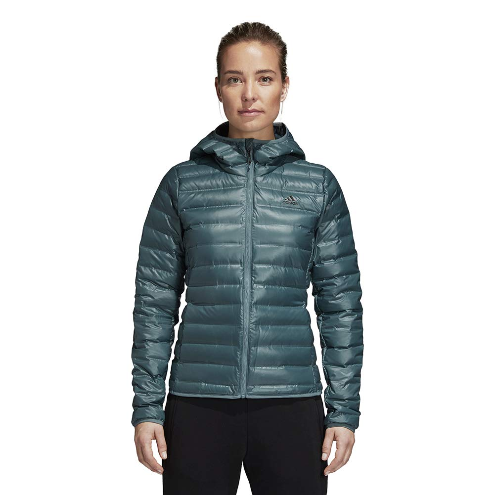 adidas outdoor Women's W Varilite Hooded Jacket, M, Raw Green