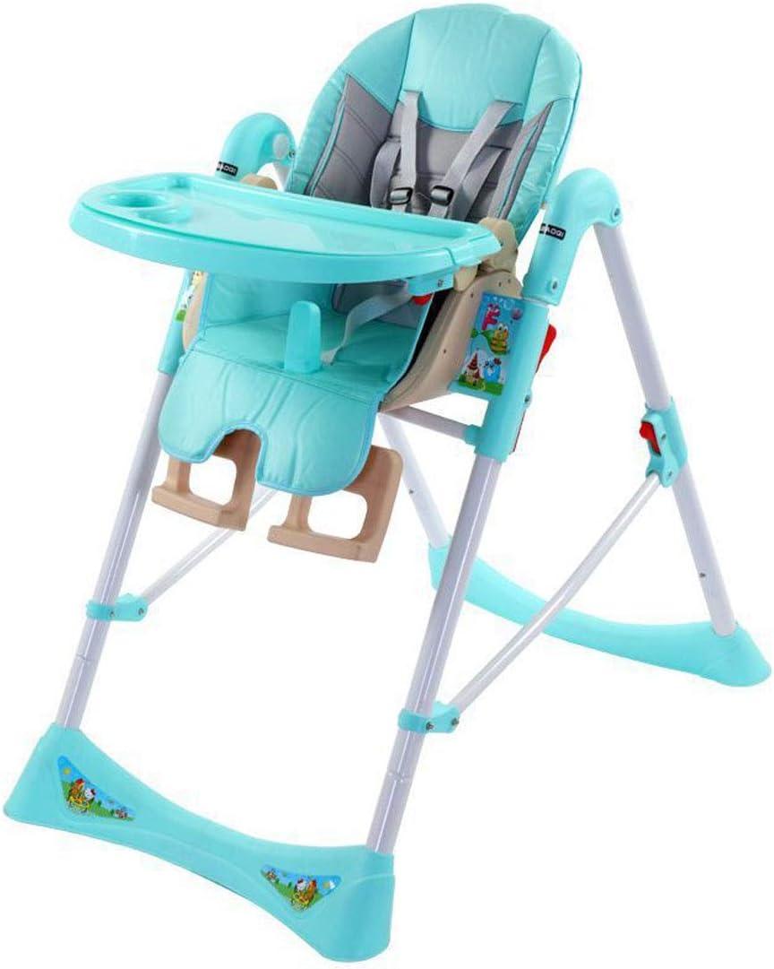 調整可能 ハイチェアおいしい人間工学に基づいた快適な折り畳み式フィーディングチェア、取り外し可能なトレイ、高さ調節可能、背もたれフットレスト、幼児6か月から3年までのグレー 幼児