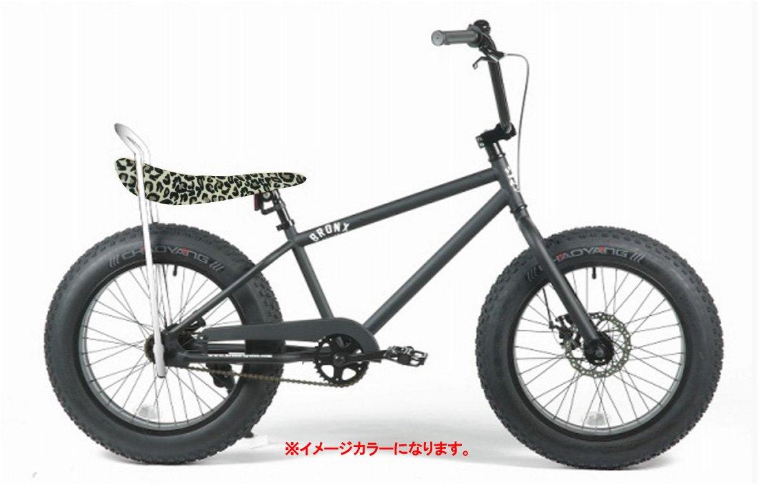 BRONX 20nch FAT-BIKES 【ブロンクス 20inchファットバイク】 COLOR:マットブラック×スノーレパードサドル B00VCNMGHO