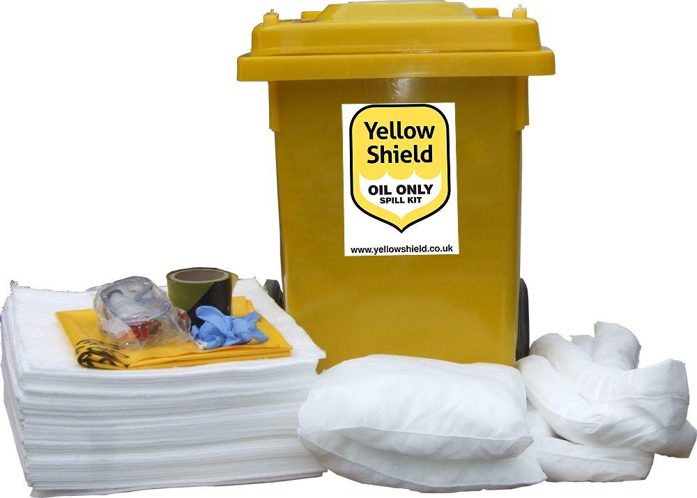 Wheelie Bin Oil Spill Kit - 80 Litre Yellow Shield 121223