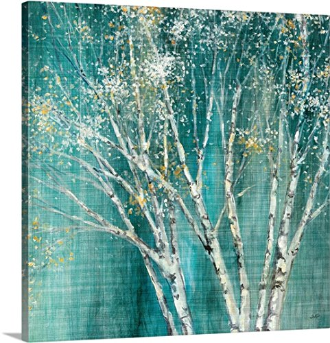 "Julia Purinton Premium Thick-Wrap Canvas Wall Art Print entitled Blue Birch 20""x20"""