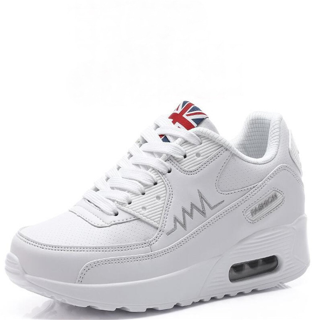 Btrada Women High Heel Wedge Sneakers Platform Tenis Air Mesh Female Fashion Casual Fitness Walking Shoes