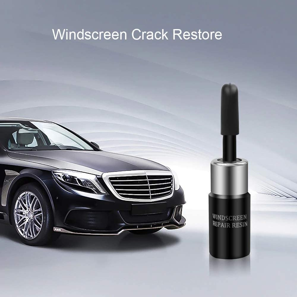 Gcroet 1 Set Profession Car Window Glass Repair Kit Diy Repair Tool Windshield Crack Chips Repair Resin with Cure Strips+sleeve Razor