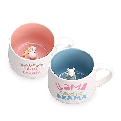 3D Coffee Mug Cute Animal Inside Ceramic Hand Painted Milk Tea Cup