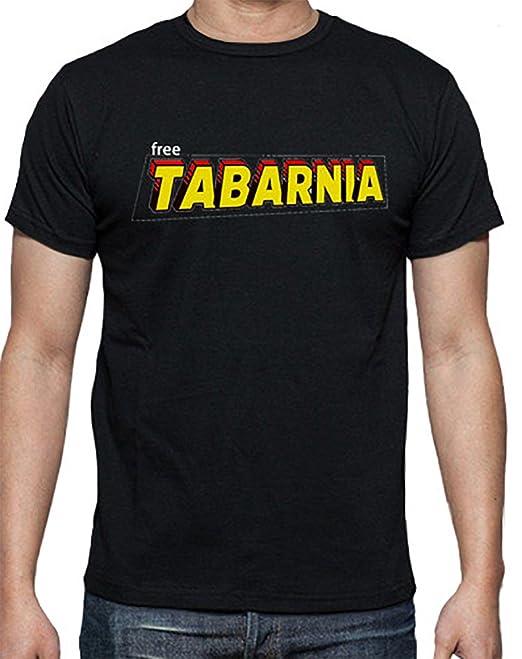 Camiseta Negra Tabarnia Letra Superhero (S)