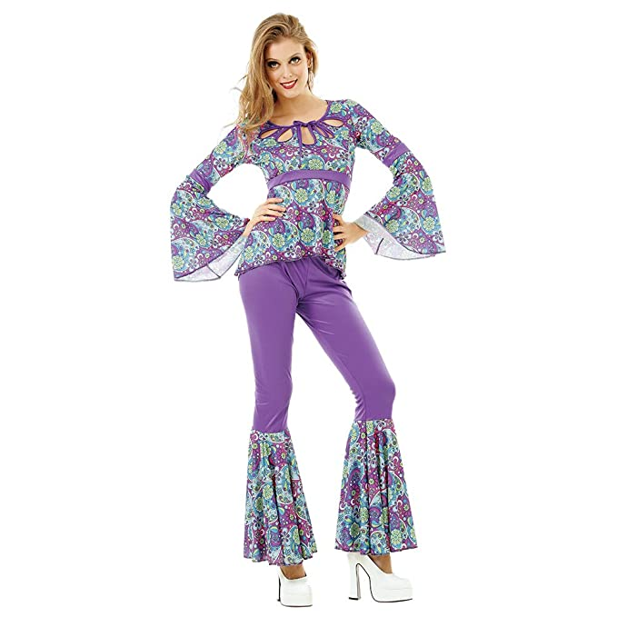 Hippie Costumes, Hippie Outfits Disco Diva Womens Halloween Costume Foxy 70s Night Fever Funky Boogie Dancer $22.99 AT vintagedancer.com