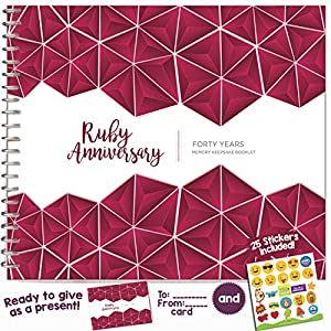 ... 40 Anniversary Memory Journal - Unique 40 Year Wedding Gift for