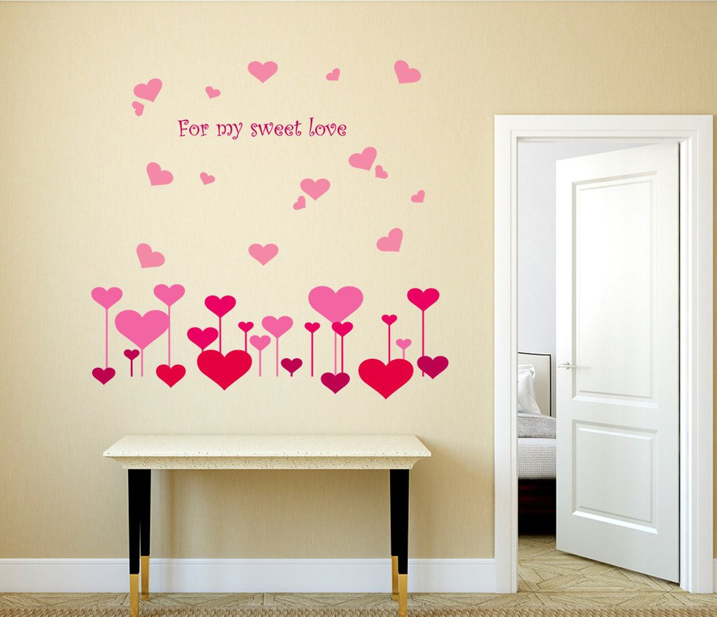 Buy decals design hearts for my sweet love wall sticker pvc buy decals design hearts for my sweet love wall sticker pvc vinyl 70 cm x 50 cm online at low prices in india amazon amipublicfo Choice Image