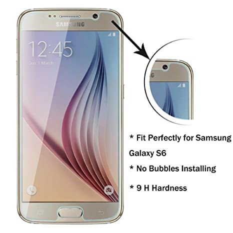 ACENIX® S6 Cristal Templado Premium Protector de pantalla, Shield transparente calidad HD para Samsung
