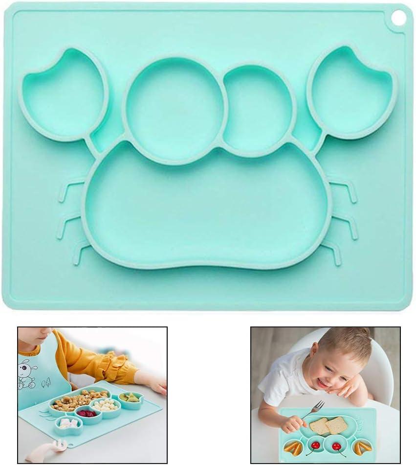 Xrten Plato de Silicona Antideslizante Sin BPA para bebé, Plato ...