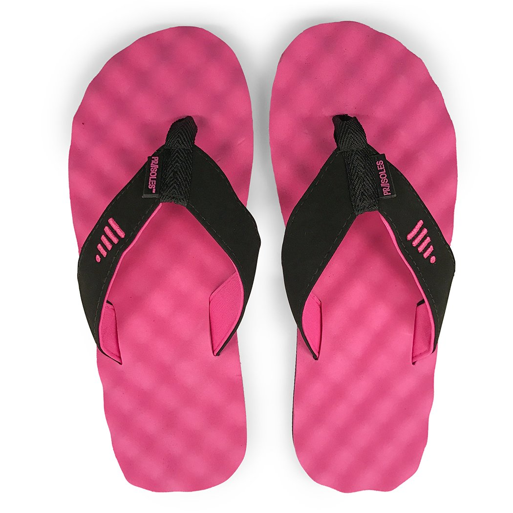 Pr Soles Recovery Flip Flops Sandals For Men And Women Great Sound Operated Flop Athletes Black Pink Xxs W 5 65 Shoes Bags