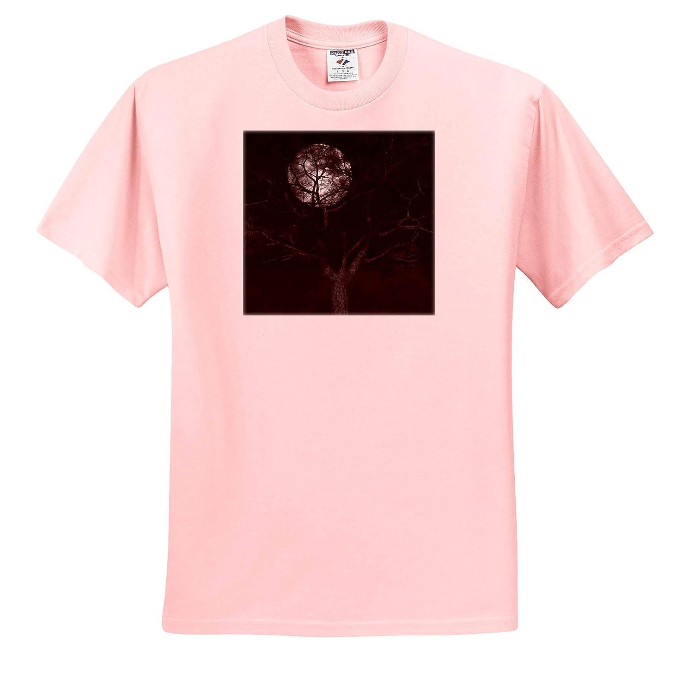 Adult T-Shirt XL ts/_309442 Moon and Tree Full Moon and Tree Digital Art 3dRose Digital Art by Brandi Untz