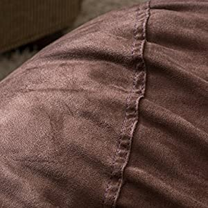 Great Deal Furniture Haley 6 Ft Faux Suede Microfiber Bean Bag (Brown)