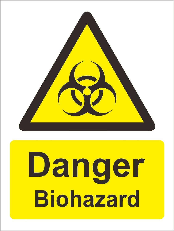 Indigos Ug Aufkleber Sicherheit Warnung Warning Zeichens Danger Biohazard Safety Zeichen 200mm X 150mm Baumarkt