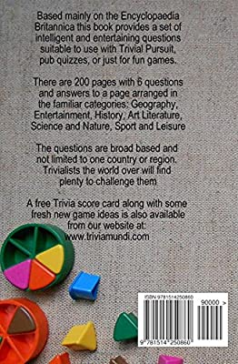 Trivial Pursuit Questions: 1200 Brand New Questions and