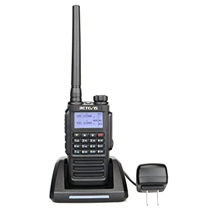 Retevis RT87 2 Way Radio Waterproof IP67 Encryption VOX DTMF MSK Tone Dual  Band Ham Radio(Black,1 Pack) with FM Function