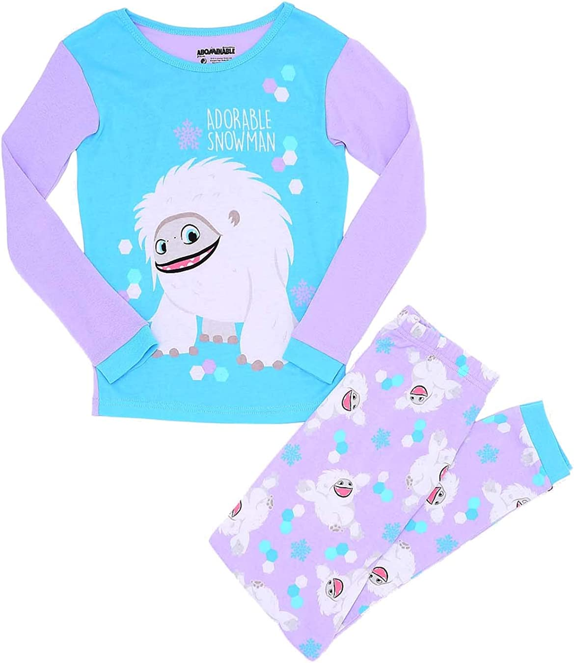 DreamWorks Little Girls' Abominable 2 Piece Pajama Set