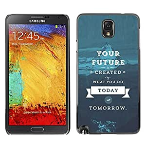 Design for Girls Plastic Cover Case FOR Samsung Note 3 N9000 Quote Blue Text OBBA
