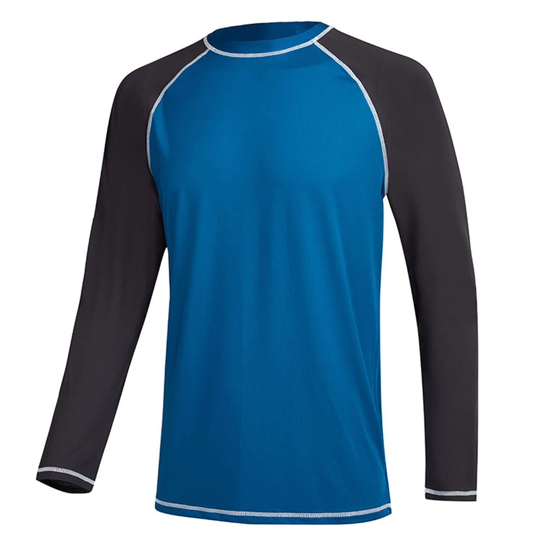 b0e473664f Men's Swim Shirts Rashguard Sun Shirt UPF 50+ UV Sun Protection Outdoor Long  Sleeve T-Shirt Swimwear   Amazon.com