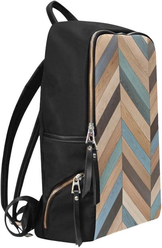 Bag Backpack Vintage Chevron Zig Zag Black and White Daypack