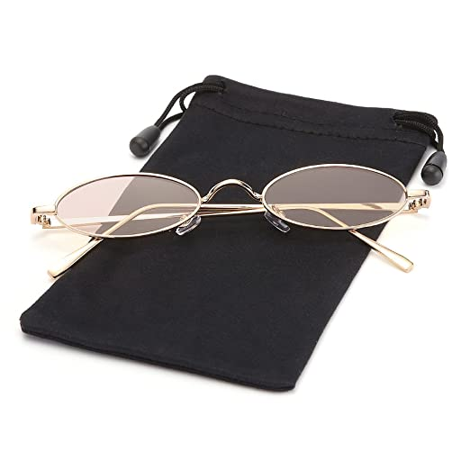 7787284e8bcd1 Retro Small Steampunk Oval Sunglasses Candy Color Lens for Women and Men  LOOKEYE