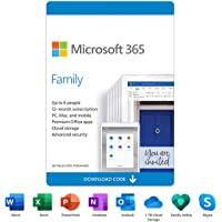 Microsoft 365 Family   12-Month Subscription, up to 6 people   Premium Office apps   1TB OneDrive cloud storage   PC/Mac…
