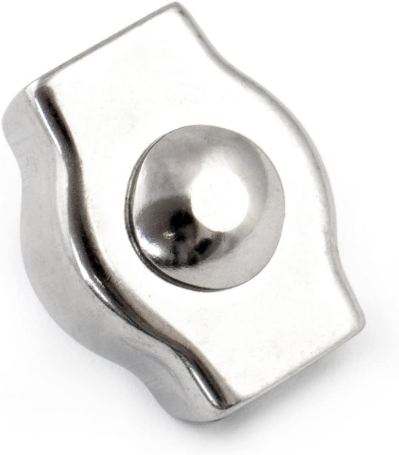 10 pcs acier inoxydable serre-c/âble cercle 8mm inox