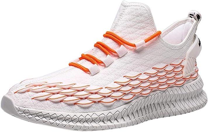 RYTEJFES Zapatos De Malla Transpirable Al Aire Libre Zapatillas De Deporte Tejidas Voladoras De Nuevas para Hombres Zapatillas Deportivas Antideslizantes Cómodas Y Ligeras para Hombres: Amazon.es: Hogar