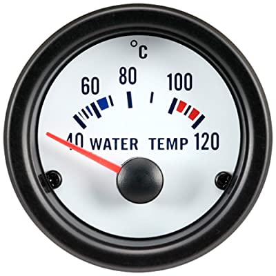 Autostyle PI40048 Performance Instrument, Water Temperature 40-120 C, 52 mm, White: Automotive