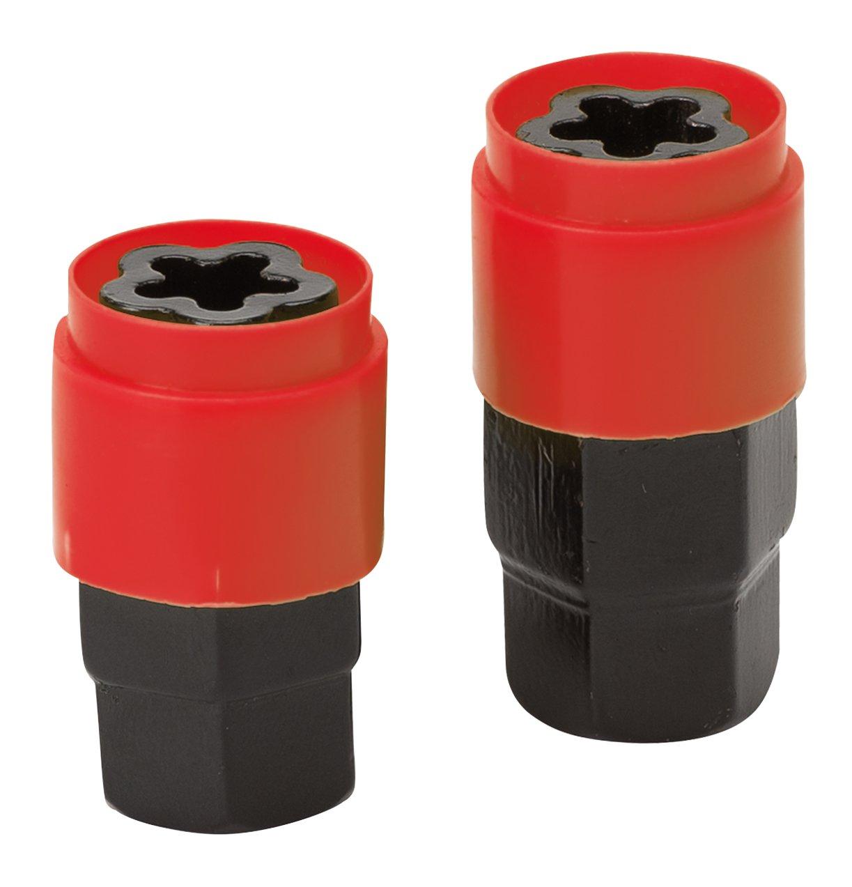Tornillos BZA5026 12x1.50 L26 12 mm de di/ámetro Juego de cuatro tornillos antirrobo de gran calidad para llantas Con dos llaves o vasos Encuentra los que necesitas por modelo de coche en las descripciones. 1.50 de paso de rosca, Forma de flor