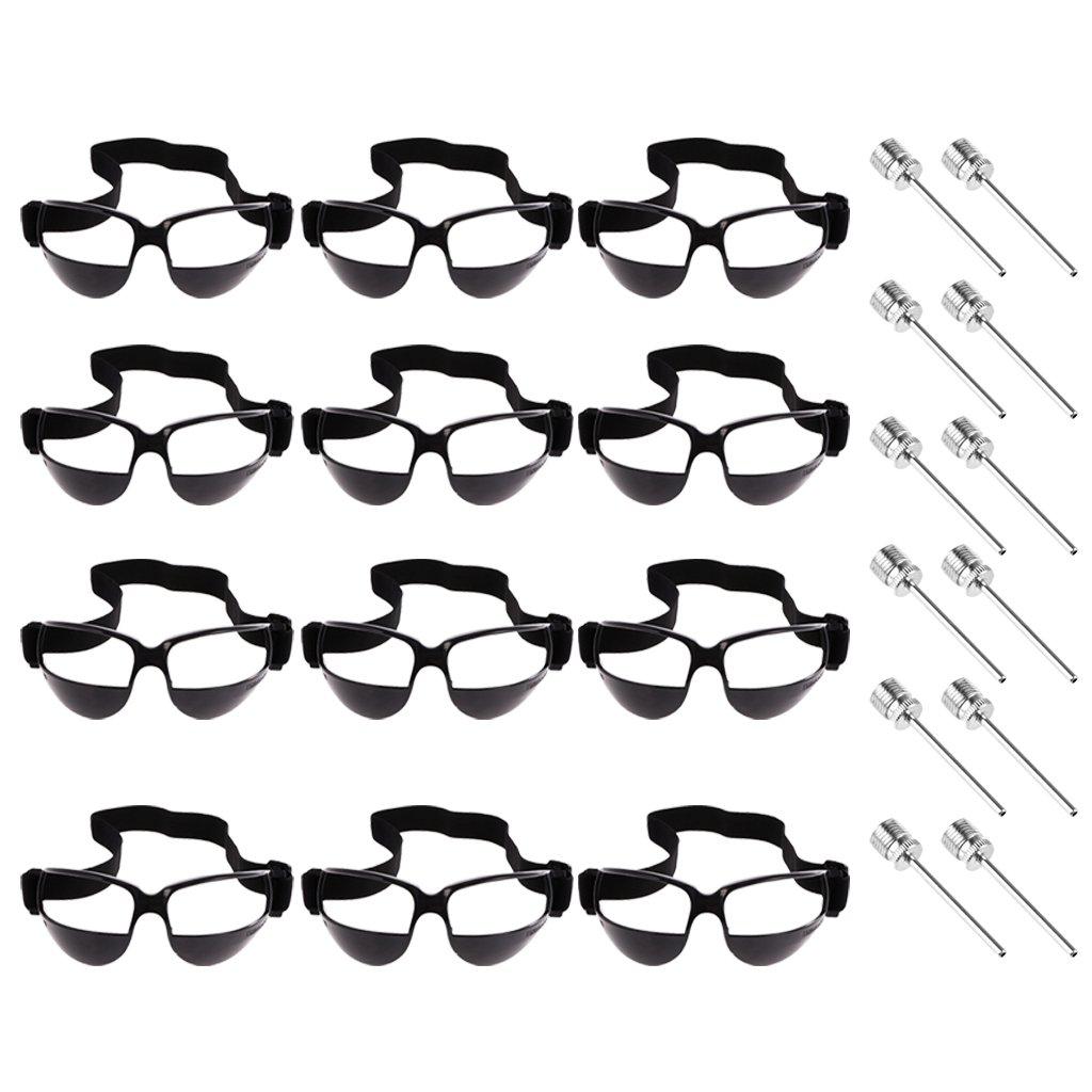 MagiDeal 12 Pedazos de Gafas de Baloncesto con 12 Pcs de Aguja de Bomba