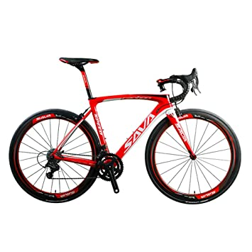 SAVADECK Herd 9.0 700C Bicicleta de Carretera con Bici de Fibra de Carbono con Campagnolo Centaur