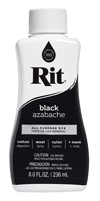 Rit Dye Liquid Fabric Dye, 8-Ounce,Black