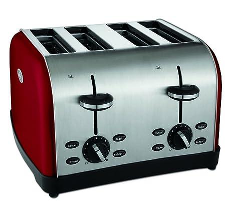 Amazon Oster TSSTTRWF4R SHP 4 Slice Toaster Red Kitchen