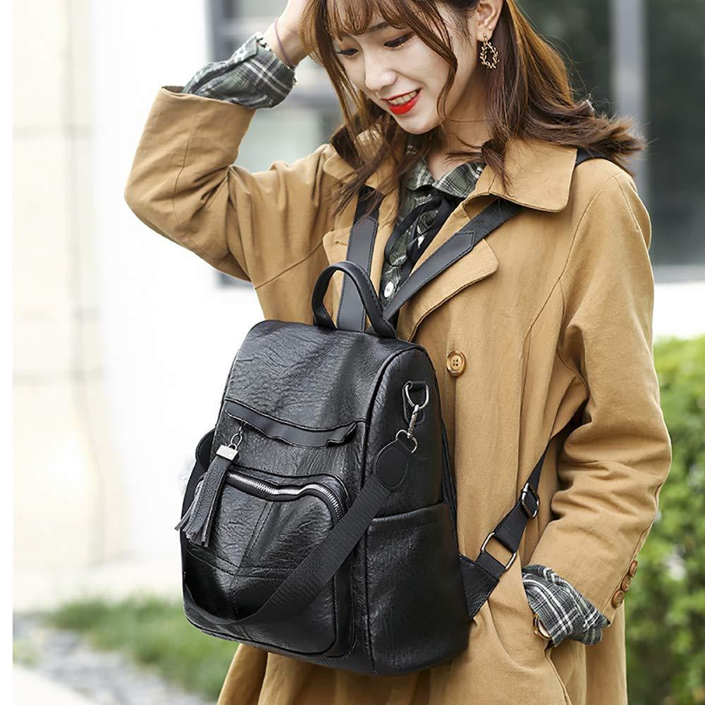 Amazon.com: Leather Anti Theft Travel Laptop Backpack Fringe Bookbag Purse Women Pom Pom Backpack Hiking Daypack: Shoes