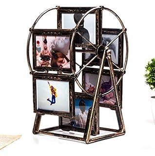 liuhoue Portaretrato Creativo Noria Retro, 5 Pulgadas Multi Frame Marco De Decoración para El Hogar