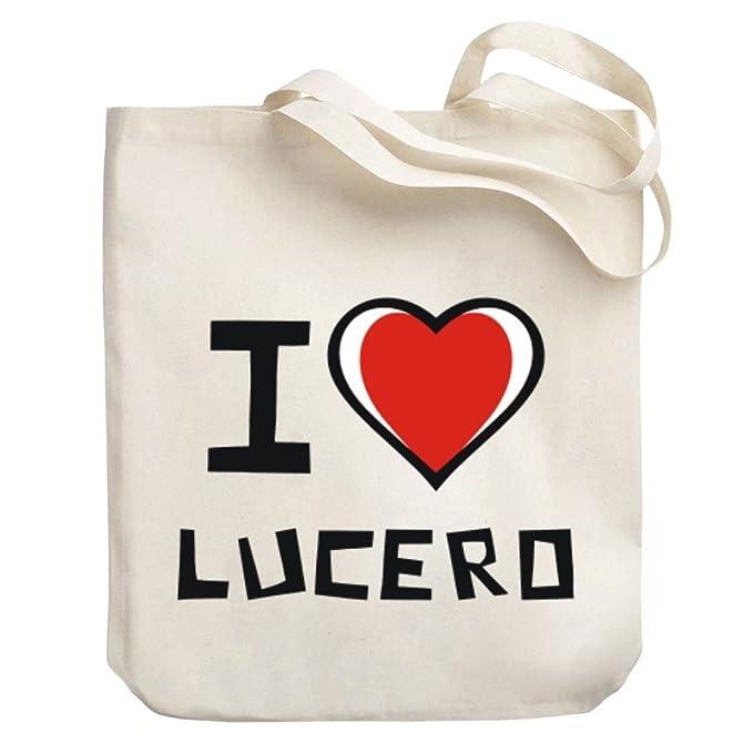 d2111b7f1ab Amazon.com  Teeburon I love Lucero Canvas Tote Bag  Clothing