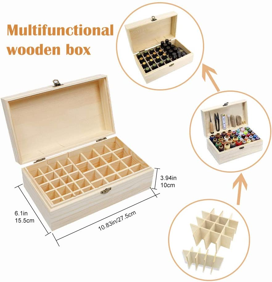 Leather Sewing Thread in a Wooden Box Leather Needle and Thread 52Pcs Leather Craft Hand Tools Kit for DIY Bookbinding Crafts and Sewing Supplies Mayboos 36 Colors Leather Waxed Thread
