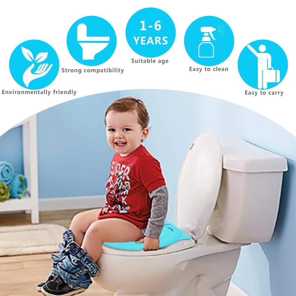 Toiletten-T/öpfchen-Trainings-Sitzbez/üge Baby und Kinder OneChois Upgrade Faltbarer Toilettensitz rutschfeste Reise-wiederverwendbare Toiletten-Zwischenlagen-Auflagen mit Tragetasche f/ür Kleinkind