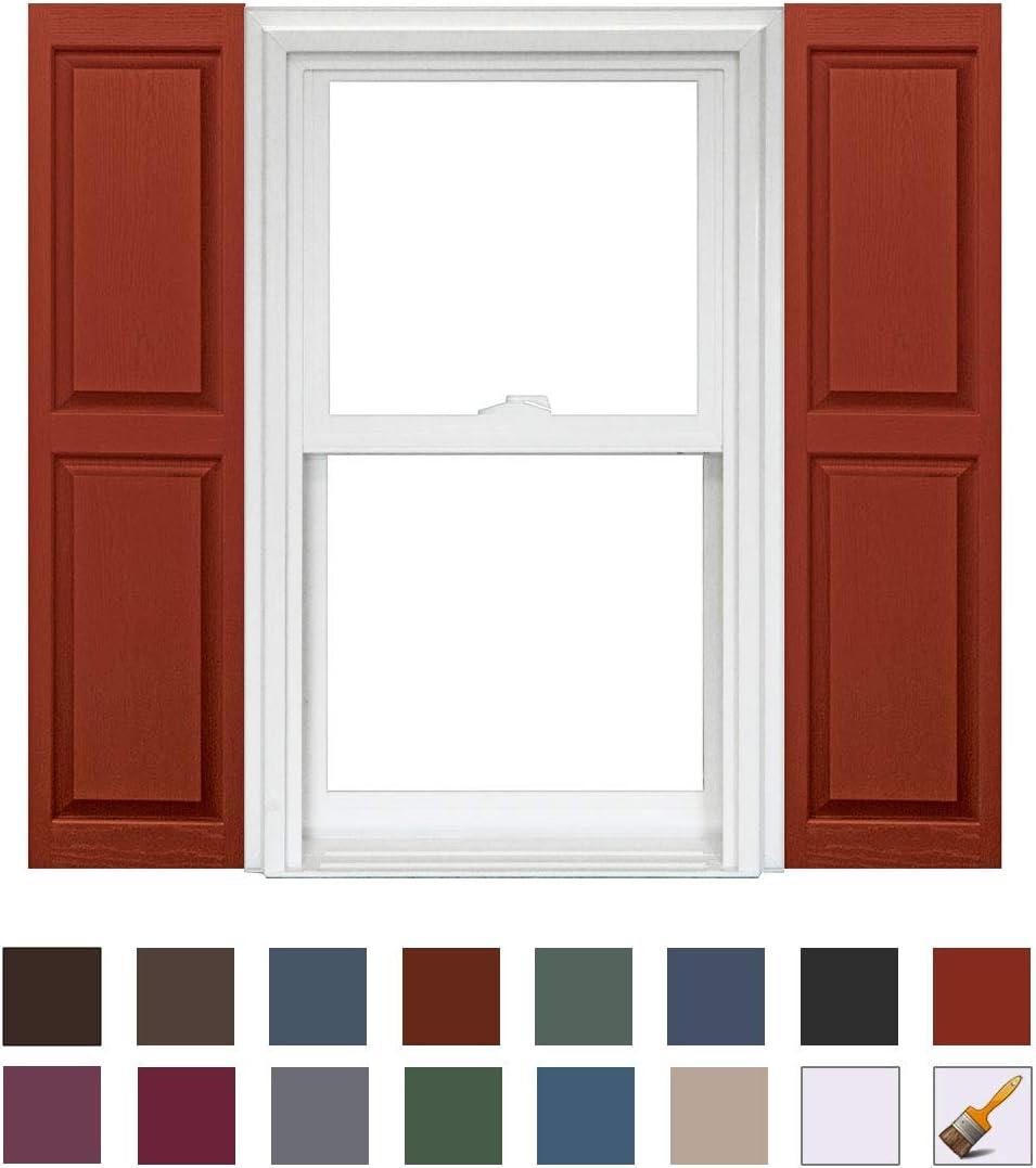 Homeside Raised Panel Shutter 1 Pair 14-1//2in 090 Bordeaux x 47in