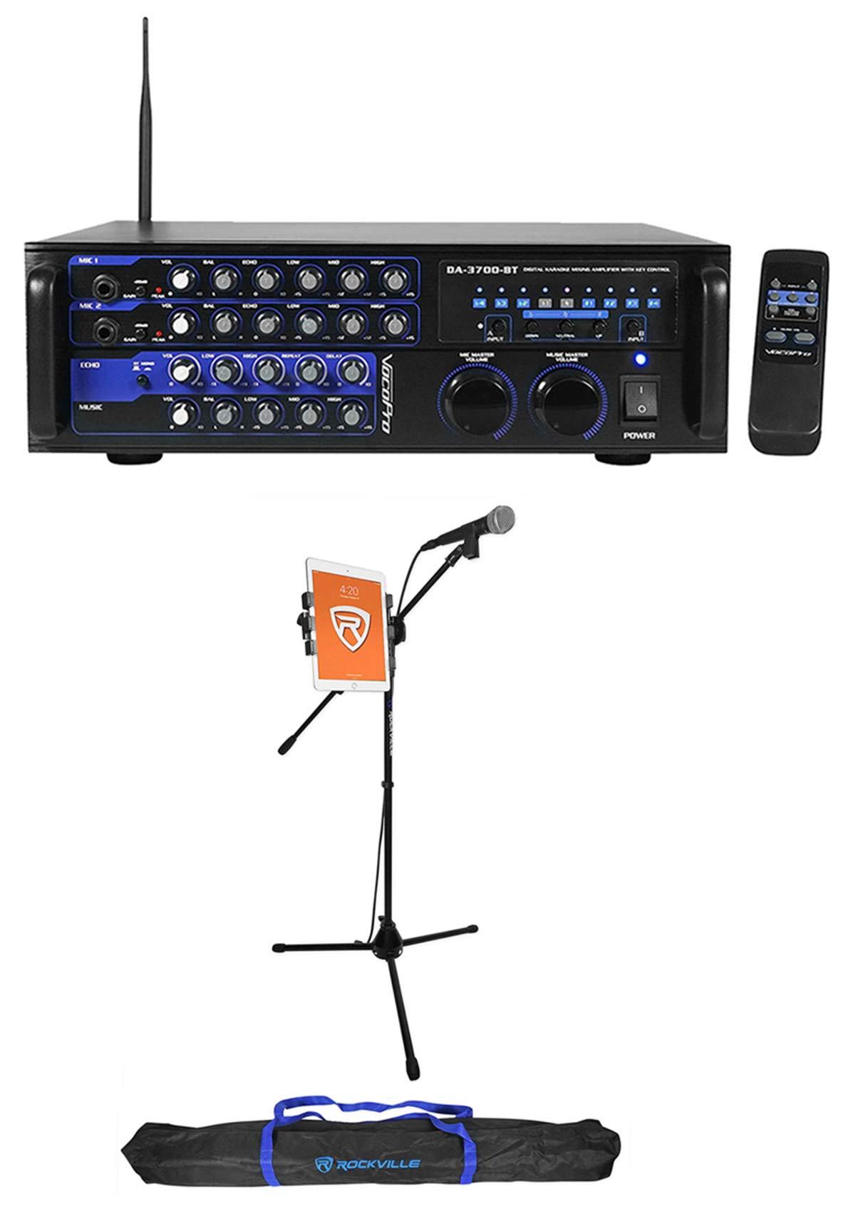 VOCOPRO DA-3700-BT 200w Digital Karaoke Mixer Amplifier w/Bluetooth+Mic+Stand