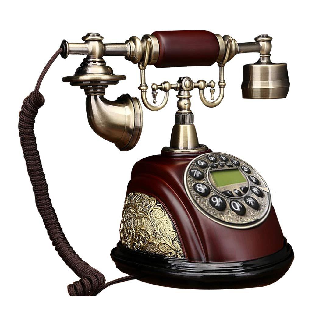電話レトロ/ロータリーダイヤル電話/レトロスタイル電話/昔ながらの電話/回転式ダイヤラ付き固定電話、有線電話、ホームおよびオフィスの装飾、さまざまなスタイルから選択可能 (三 : Ab) B07J4VGB7S C