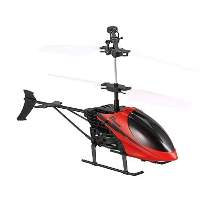 D715 Flying Mini inducción infrarroja RC helicóptero Drone LED ...